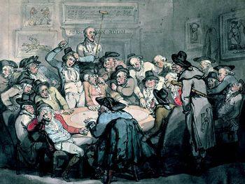 painting of gamblers