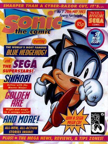 Sonic The Comic Comic Book Tv Tropes